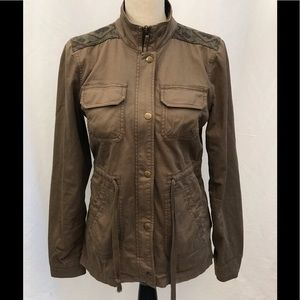 Lucky Brand Army Green Utility Jacket Size Small
